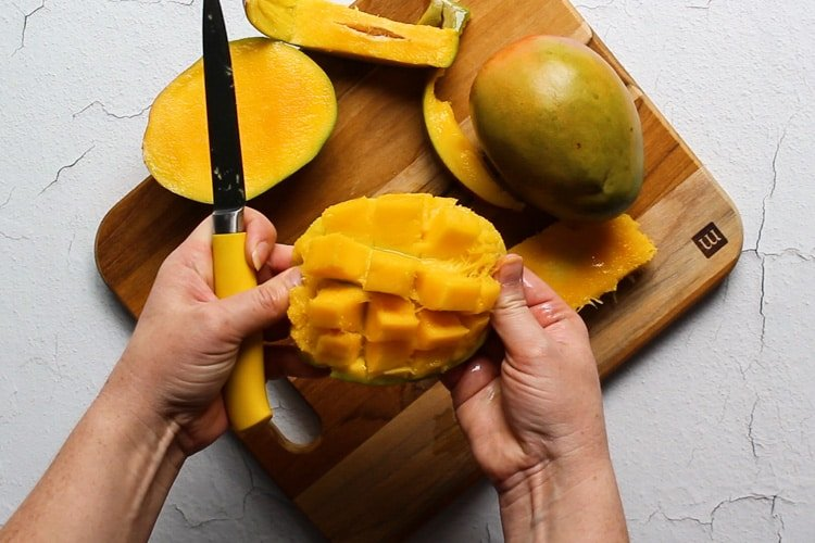 how to chop a mango tutorial