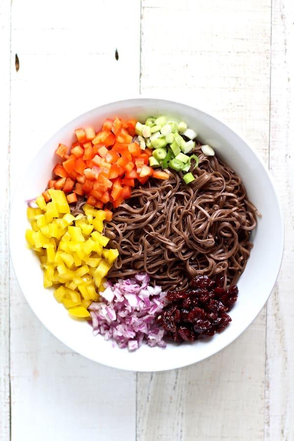 cold tahini soba noodle salad ingredients