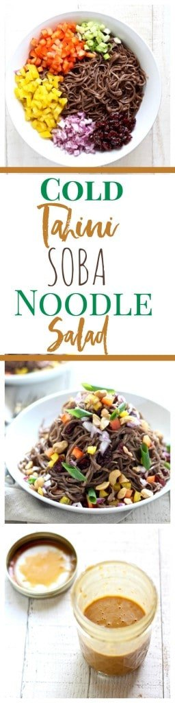 cold tahini soba noodle salad recipe
