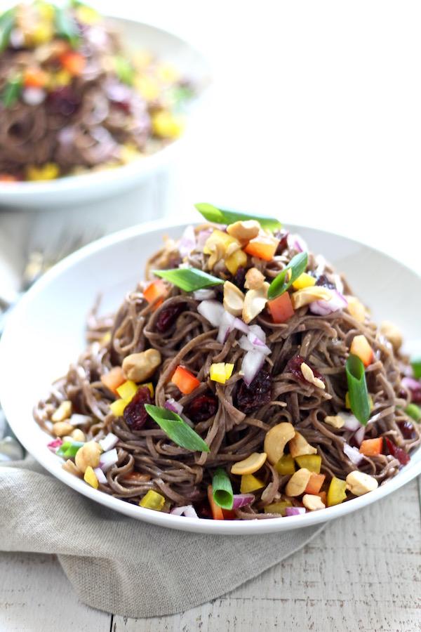 cold tahini soba noodle salad