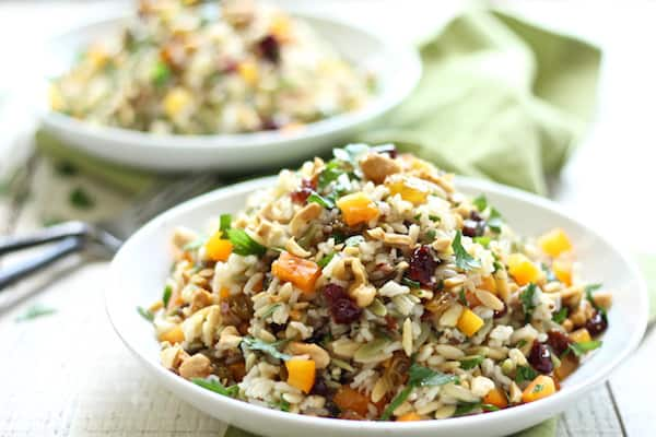 orzo and wild rice salad the perfect summer side dish!