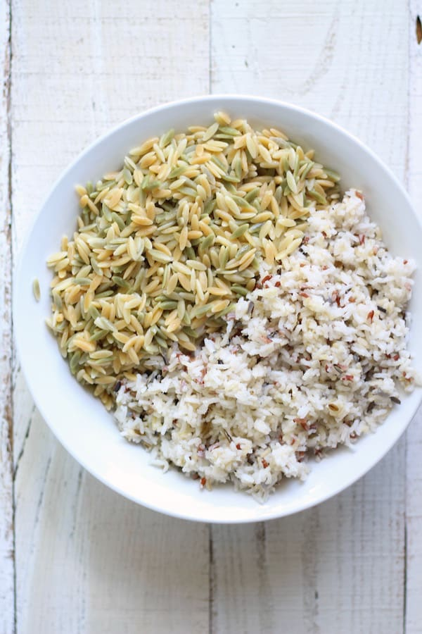 wild rice and orzo pasta fuse together to make a scrumptious side dish perfect for hold or cold weather!
