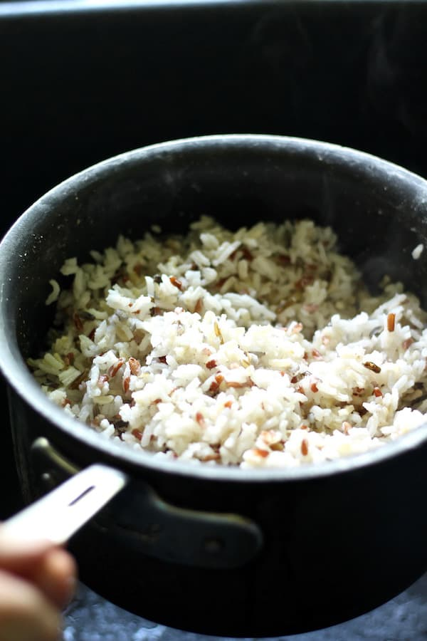 wild rice steamed to perfection
