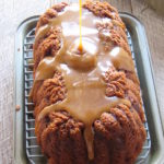 gluten free banana bread poured glaze