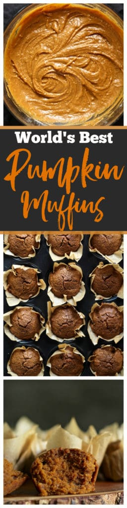 The absolute BEST pumpkin muffins you will ever taste! With coconut oil and coconut sugar, these babies are incredible. #coconutoil #coconutsugar