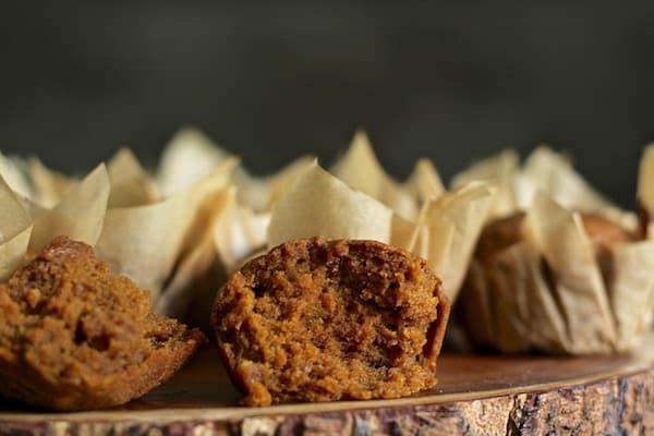 Pumpkin muffins up close