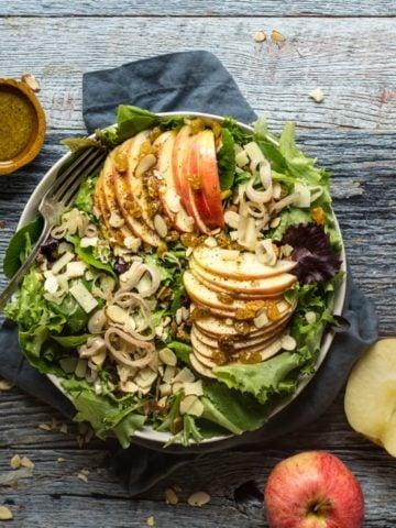 Crisp Apple Salad with apple salad dressing