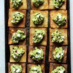goat cheese guacamole with crispy wontons