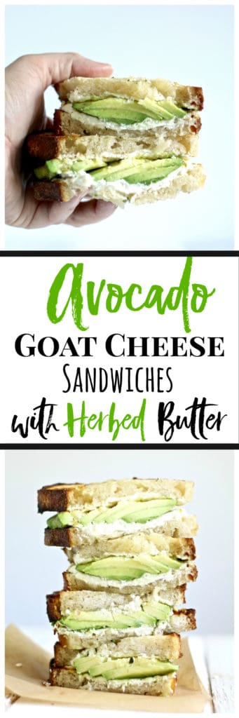 Grilled avocado goat cheese sandwiches are the perfect easy weeknight meal or football game potluck recipe!