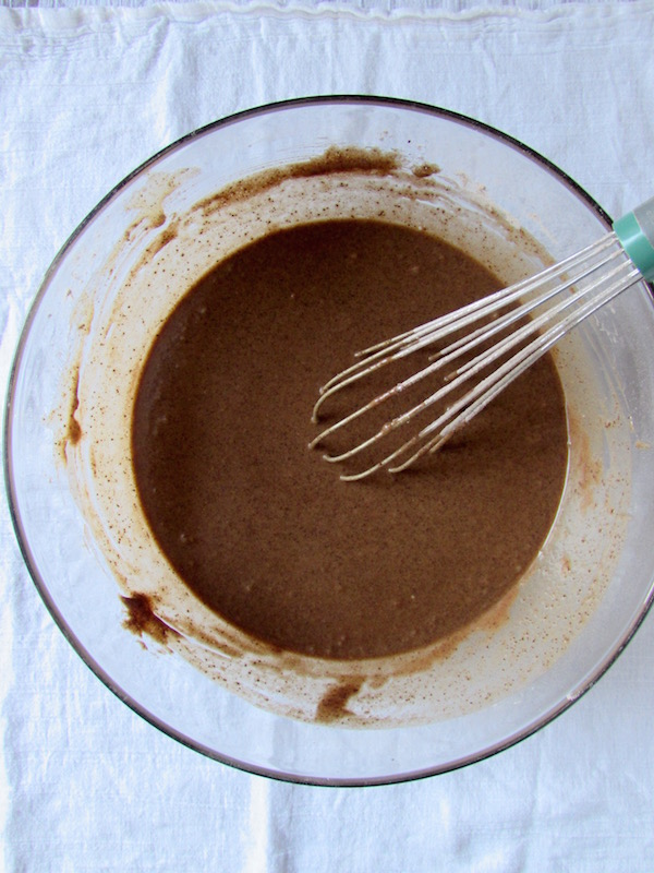 browned butter chocolate cake batter completed
