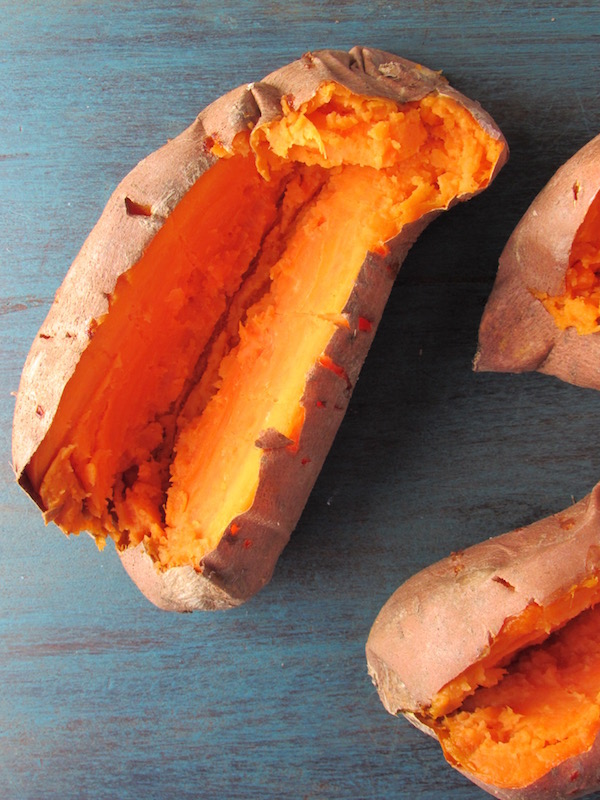 sweet potatoes, cooked