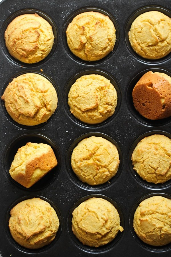 Gluten free cornbread muffins baked for cornbread stuffing