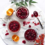 easy cranberry clementine sauce