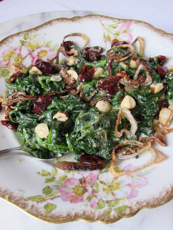 Vegan Creamed Spinach Plated 1
