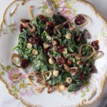 Vegan creamed spinach plated