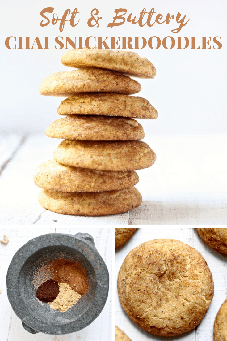 The Best Soft Chai Snickerdoodle Cookies #snickerdoodles