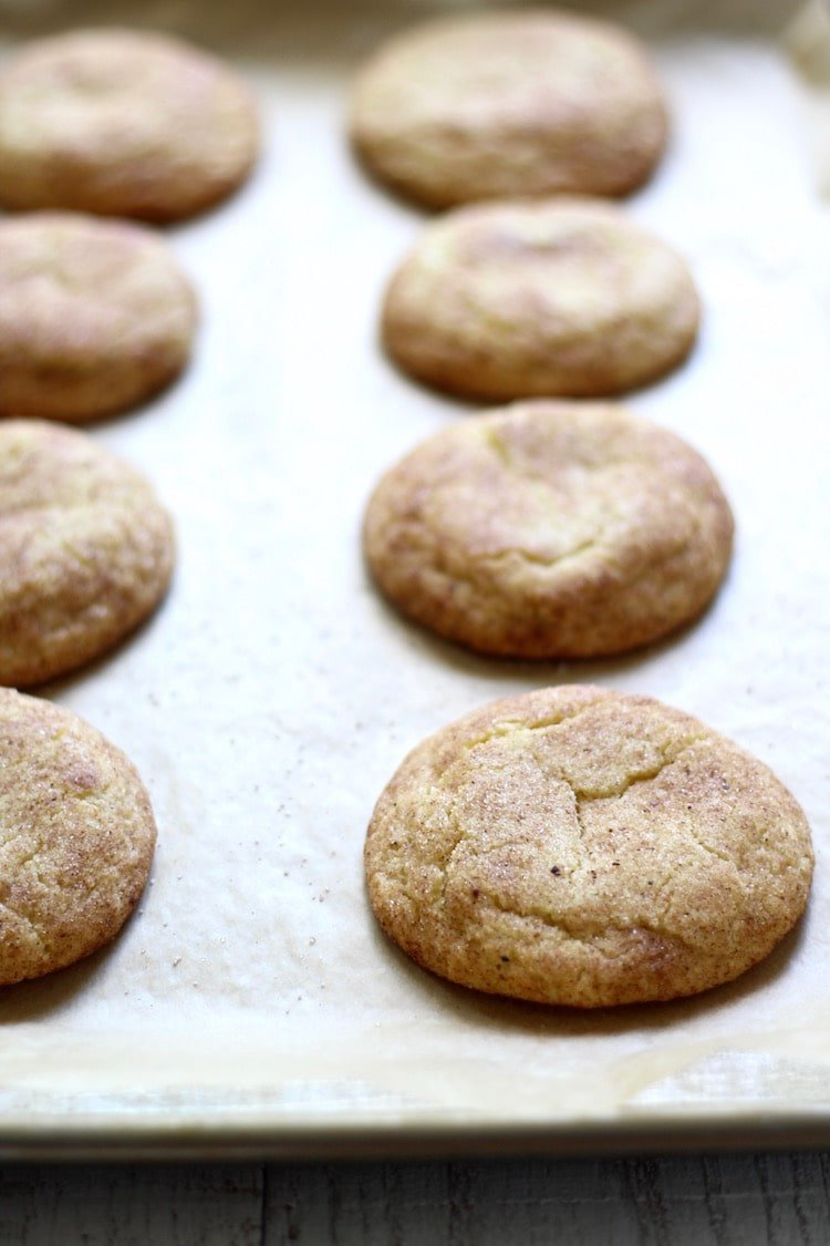 Chai Snickerdoodle Cookies baked