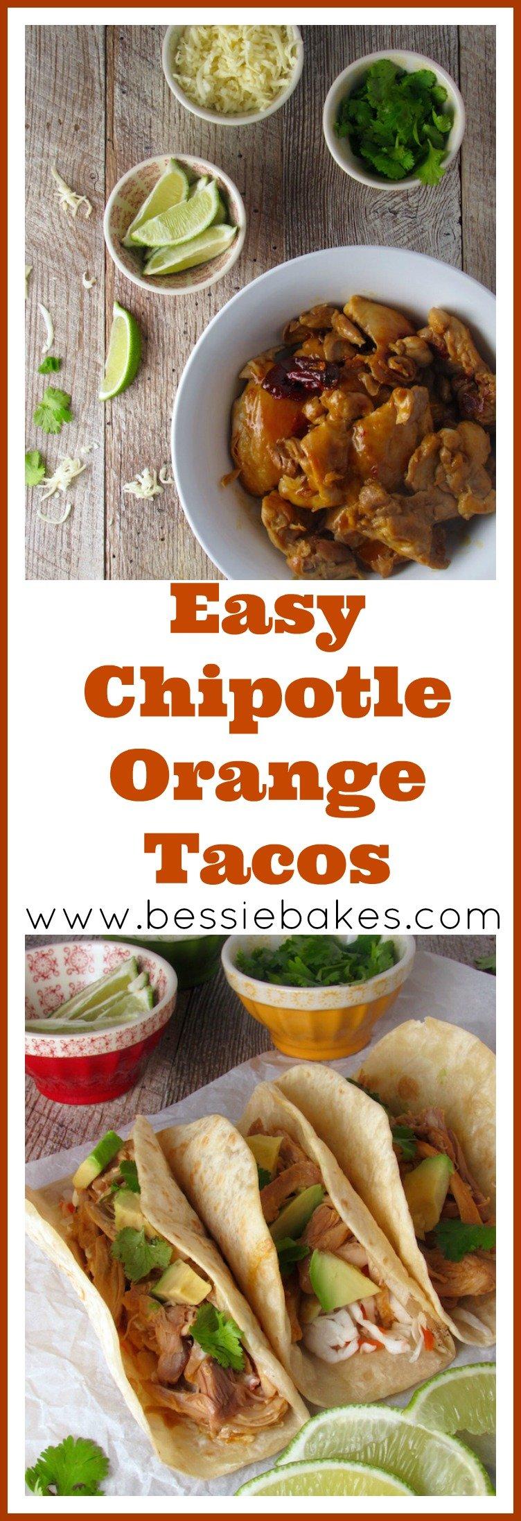 easy chipotle orange chicken tacos