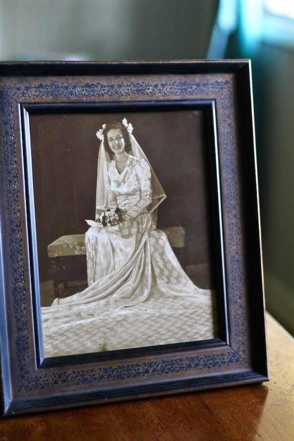 picture of mamaw wedding day
