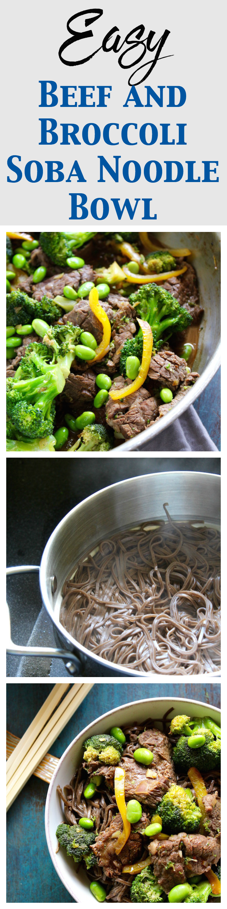 easy beef and broccoli soba noodle bowl pinterest