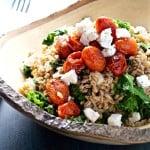 mediterranean kale farro salad