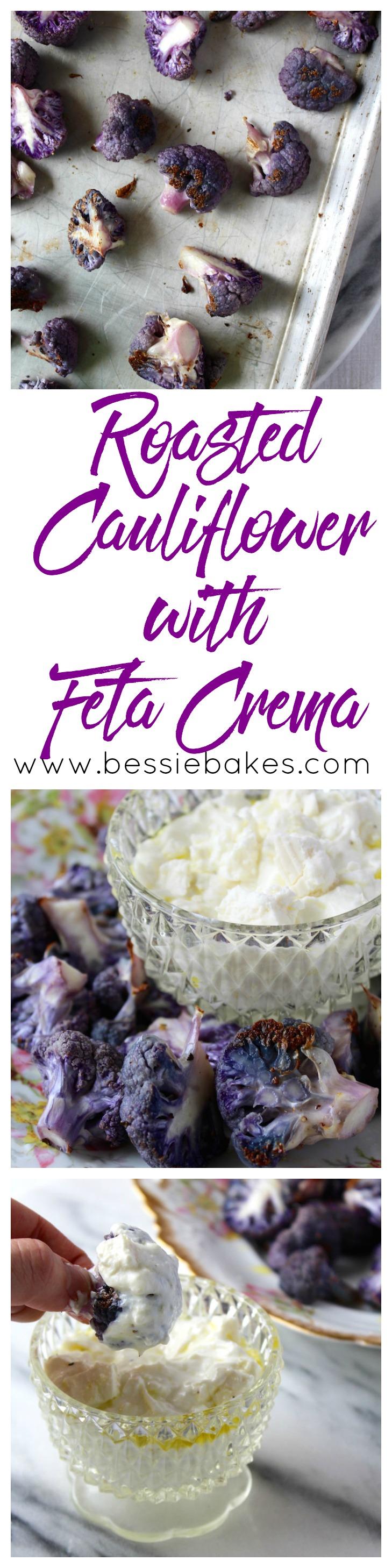 Roasted Cauliflower with Feta Crema
