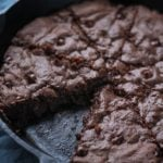 Double Chocolate Coconut Oil Skillet Cookie up close