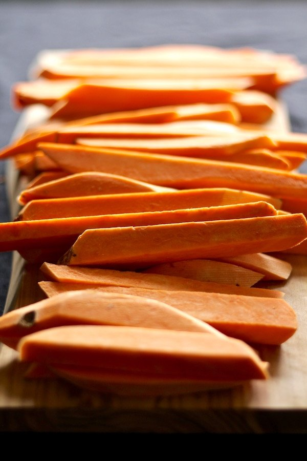 Learn how to slice sweet potato fries!