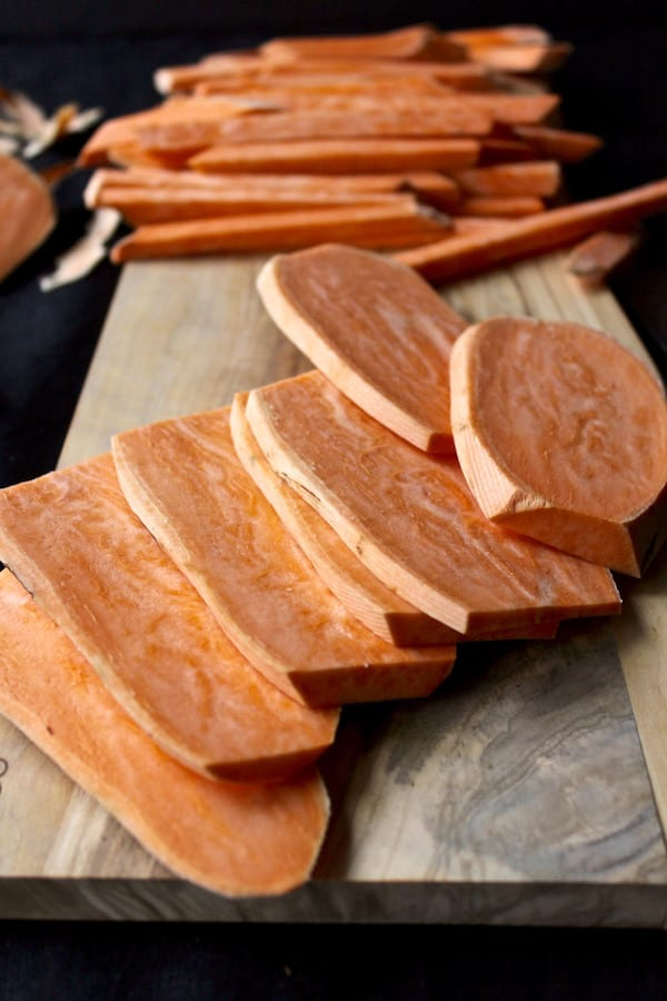 How to slice sweet potato fries without slicing off your fingers