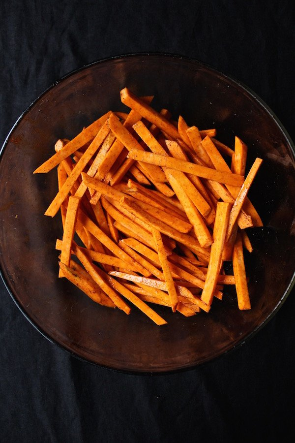 sweet potato fries in bowl