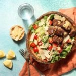 Easy Caesar Salad with lamb
