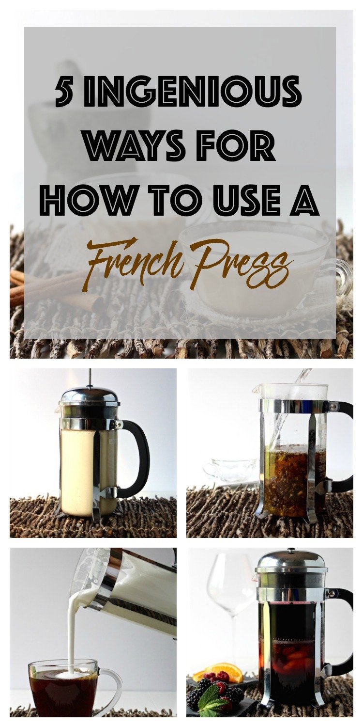 5 ingenious ways for how to use a french press pinterest