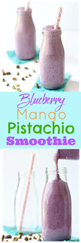 blueberry mango pistachio smoothie recipe pinterest