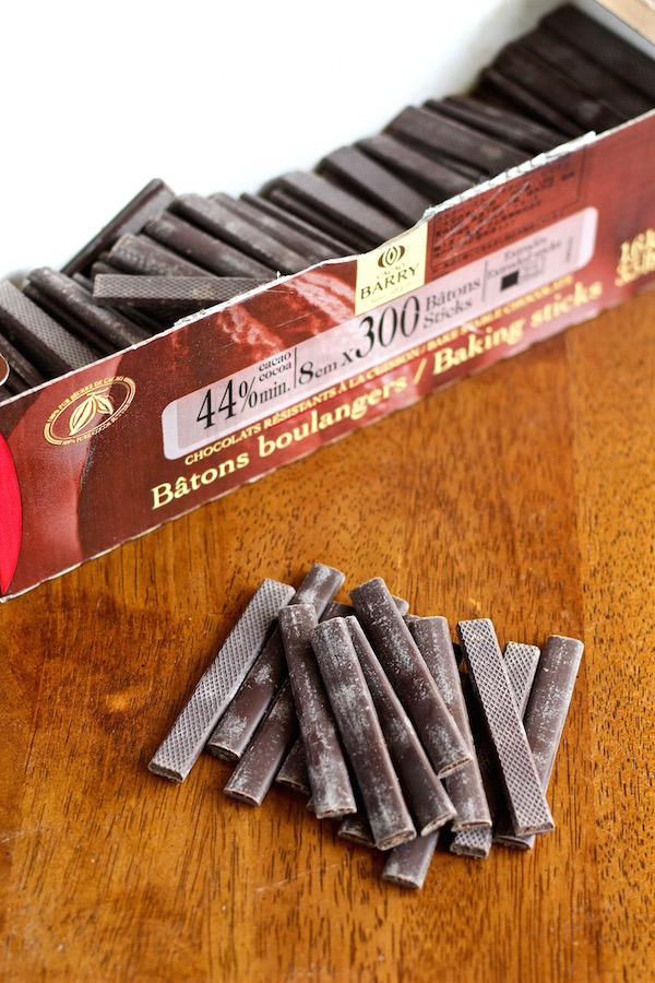 chocolate batons for croissants