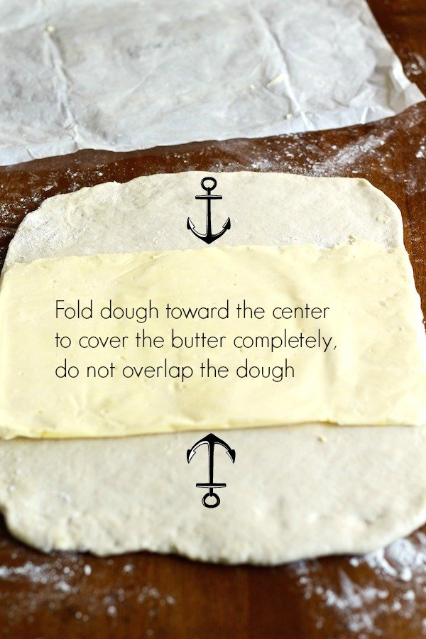 croissant dough butter book with text