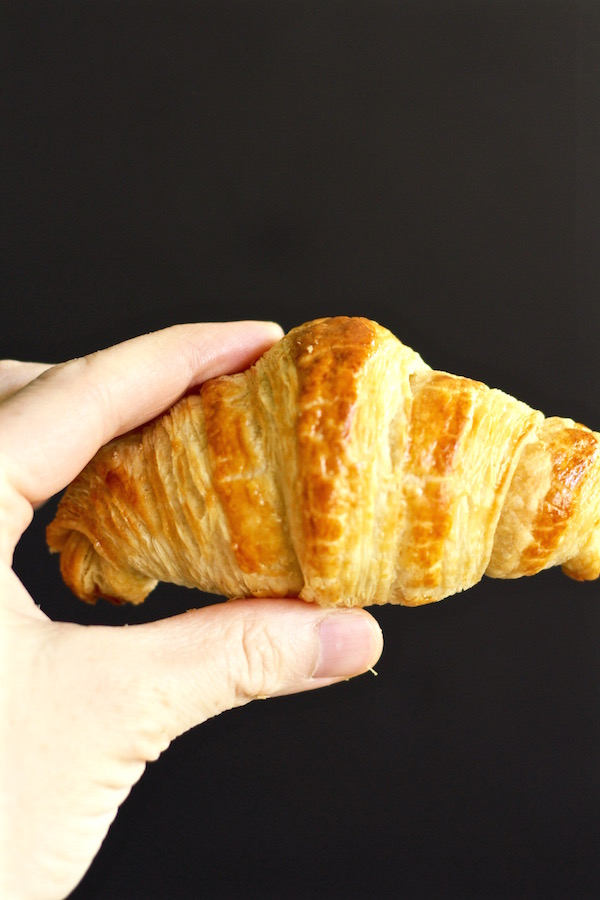 croissant in hand