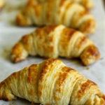 croissants baked closeup