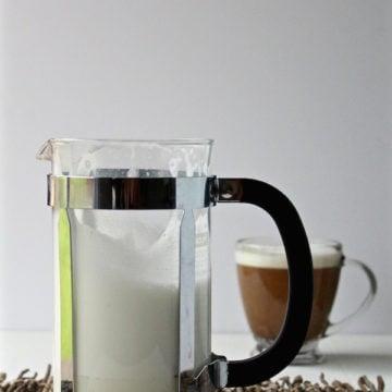 milk foam french press coffee
