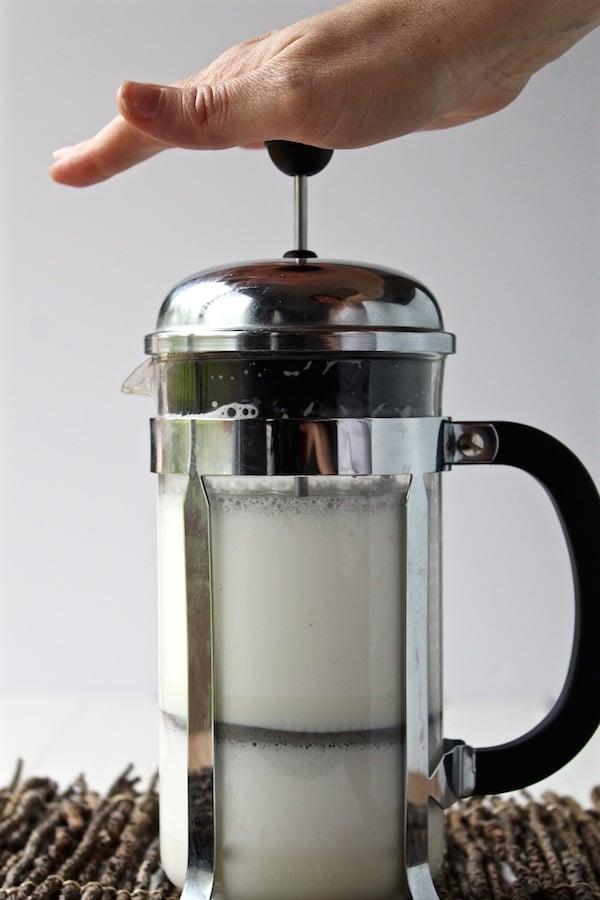 milk foam french press pumped