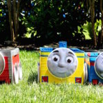 thomas the train boxes lined up