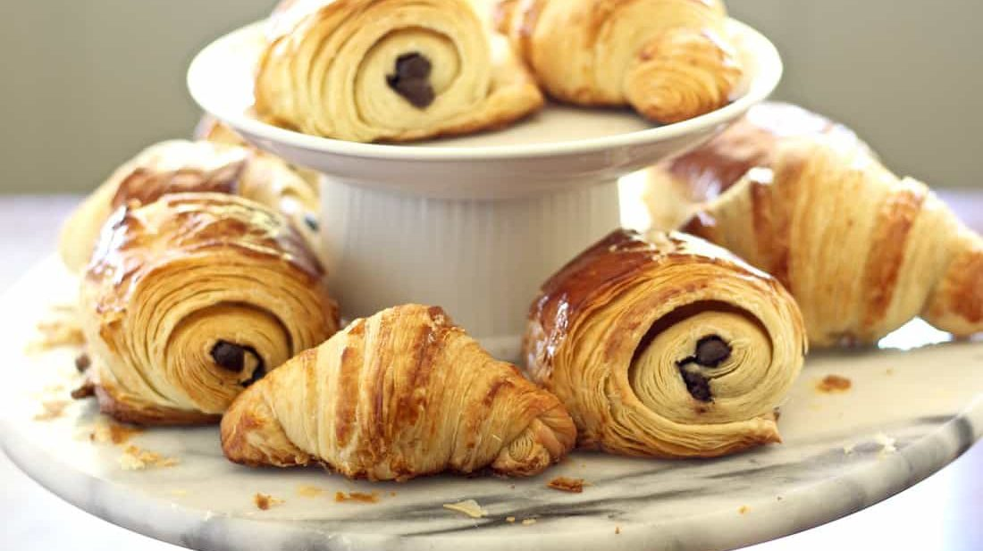 authentic french croissant and chocolate croissant recipe step-by-step photos