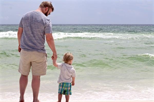jake and samuel destin on beach