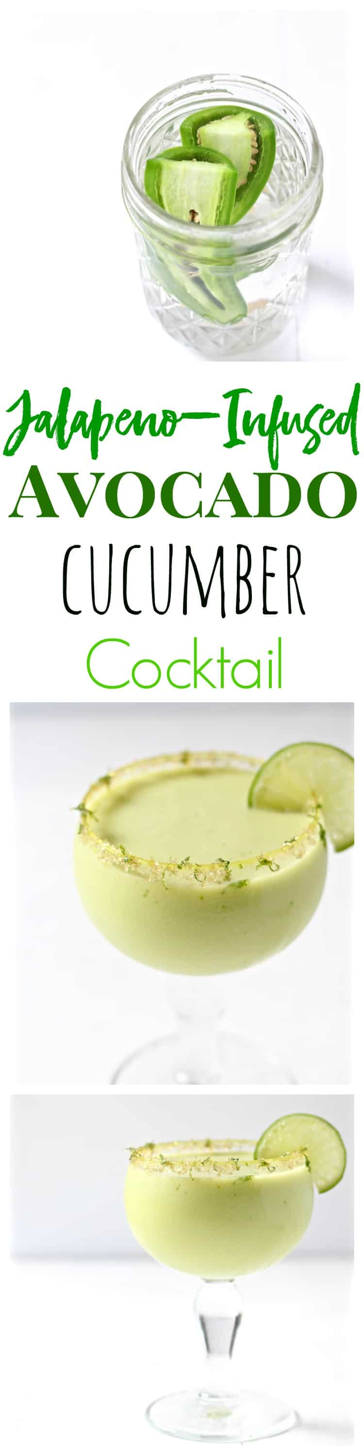 jalapeno infused avocado cucumber cocktail pinterest