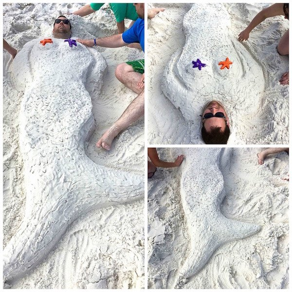 kendall sand mermaid collage