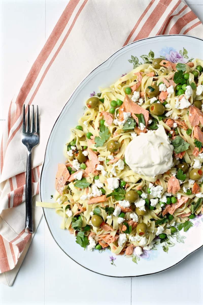 salmon pasta featured image