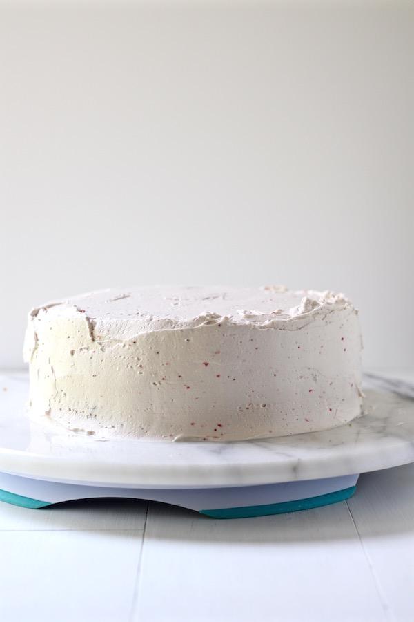 strawberry cake crumb coating