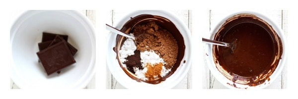 chocolate for no churn ice cream collage