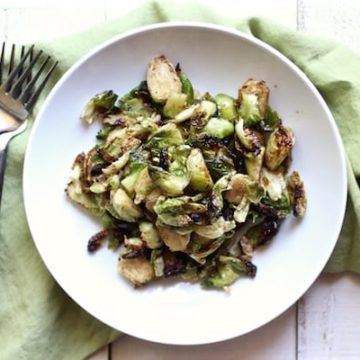 crispy brussel sprouts rectangle