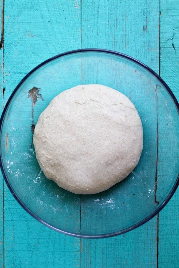 garlic naan after fermenting