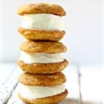 soft chai snickerdoodle cookie ice cream sandwich square